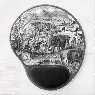 Vintage 1800s African Animal Illustration Animals Gel Mouse Pad