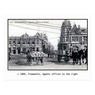 Vintage 1890 Fremantle, Perth, Australia Postcard