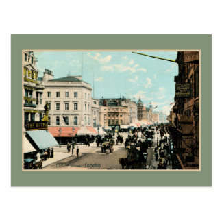Vintage 1890s color Oxford street London photo Postcard