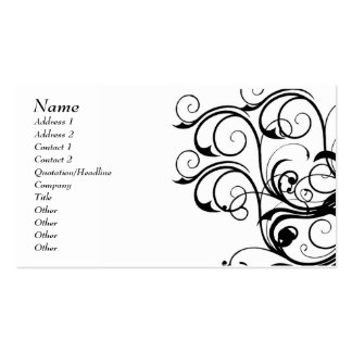 Vintage Abstract Template Card - Customized Pack Of Standard Business Cards