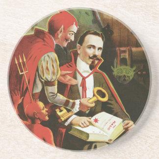 Vintage Alexander Fredrik Magic Poster Beverage Coasters