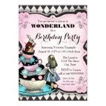 Vintage Alice in Wonderland Birthday Party 13 Cm X 18 Cm Invitation Card