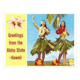 Vintage Aloha Postcard