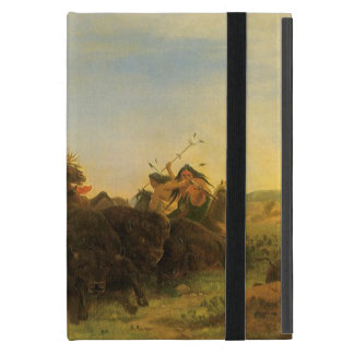 Vintage American West Art, Buffalo Hunt by Wimar Case For iPad Mini
