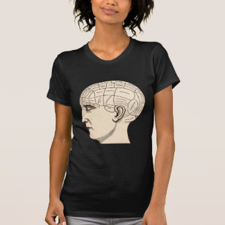 Vintage Anatomy Brain Map Image T-shirt