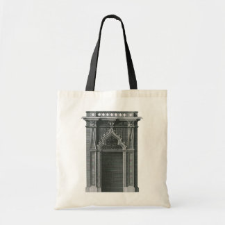 Vintage Architectural Element, Gothic Doorway Budget Tote Bag