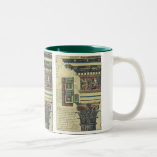 Vintage Architecture, Column with Cornice Moulding Two-Tone Mug