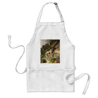 Vintage Architecture, Country Cottage House Standard Apron