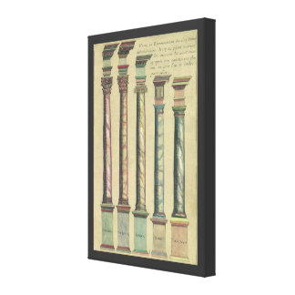 Vintage Architecture, the 5 Architectural Orders Canvas Prints