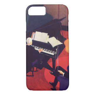 Vintage Art Deco Music Pianist Piano Player Lounge iPhone 7 Case