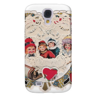 Vintage Art of Children Galaxy S4 Cases