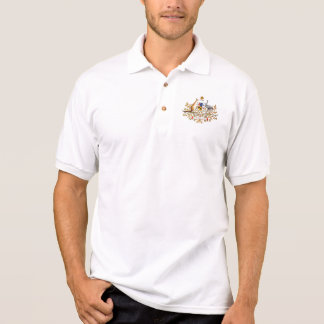 Vintage Australian Coat of Arms Polo T-shirts