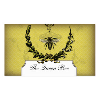 Vintage Bee Apiary Business Card Honeycomb Beeswax
