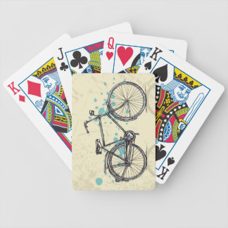 Vintage Bicycle Drawing Playing Cards
