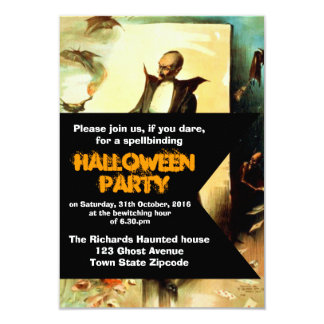 Vintage Black Magician Poster Halloween Invitation