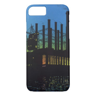 Vintage Business, Manufacturing Factory at Sunset iPhone 7 Case