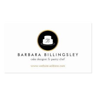 Vintage Cake Emblem Logo Bakery II Pack Of Standard Business Cards