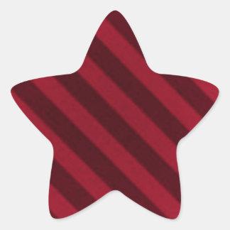 Vintage Candy Stripe Cranberry Red Grunge Star Sticker
