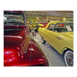 Vintage cars in Tallahassee Automobile Museum Poster