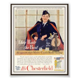 Vintage Chesterfield Cigarette Advertising 1942 Art Photo