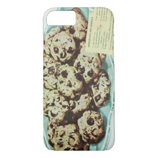 Vintage Chocolate Chip Cookie Recipe Photo 50s iPhone 7 Case