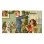 Vintage Christmas, Victorian Children Decorating Pack Of Standard Business Cards