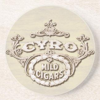 Vintage Cigar Label Smoking Advertisement Beverage Coaster