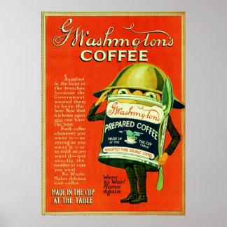 Vintage Coffee Advertisement. Poster