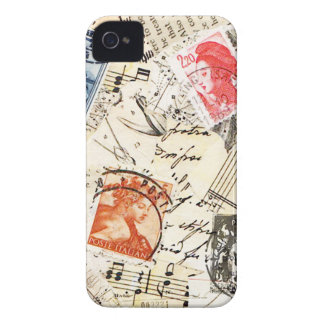 vintage collage iPhone 4 cover