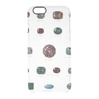 Vintage crystal gemstone gems diamond print clear clear iPhone 6/6S case