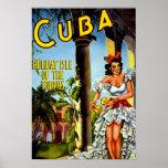 Vintage Cuban Travel Poster - Holiday Isle Tropics