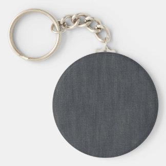 Vintage Denim Basic Round Button Key Ring
