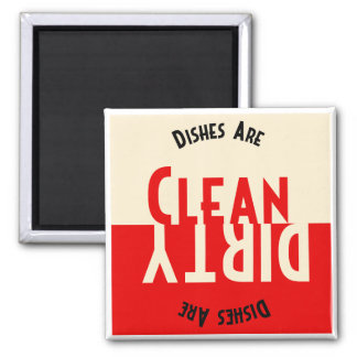 Vintage Design Dishwasher Square Magnet