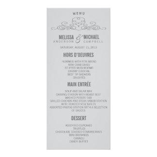 VINTAGE ELEGANCE | WEDDING MENU RACK CARD DESIGN
