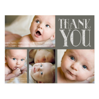 VINTAGE Elegant Photo Baby Thank You Post Card