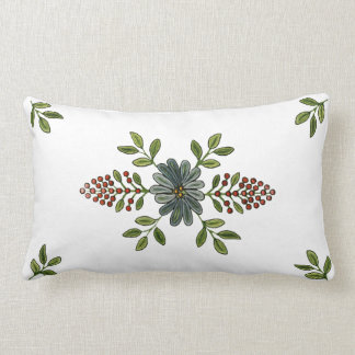 Vintage Embroidery Design Throw Cushion