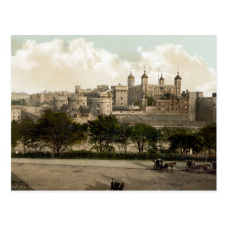 Vintage England, London Tower Postcard