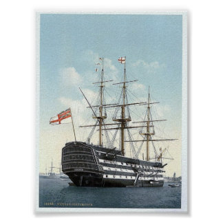 """Vintage England  """" Victory """"  Portsmouth 1890's Poster"""