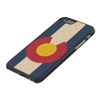 Vintage Flag of Colorado Damask Pattern Carved® Maple iPhone 6 Slim Case