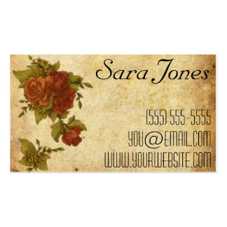 Vintage Flowers Pack Of Standard Business Cards