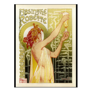 Vintage French Absinthe Advertisement Postcard