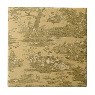 Vintage French Country Butter Ceramic Tile