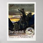 Vintage French Don Quixote Opera Poster