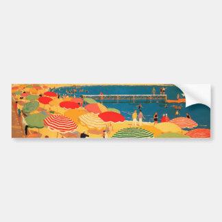 Vintage French Riviera Beach Bumper Sticker