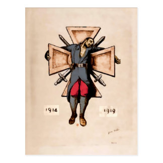 Vintage French soldier anti-war image  postcards