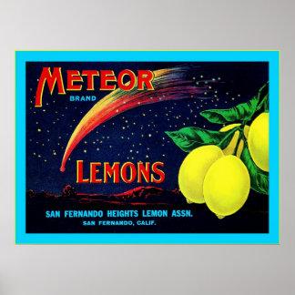 Vintage Fruit Crate Label Poster