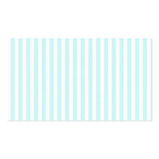 Vintage Girly  Teal Blue White  Stripes Pattern Pack Of Standard Business Cards