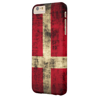 Vintage Grunge Flag of Denmark Barely There iPhone 6 Plus Case