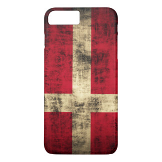Vintage Grunge Flag of Denmark iPhone 7 Plus Case