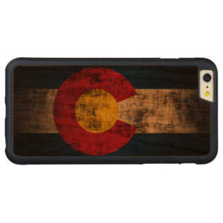 Vintage Grunge State Flag of Colorado Carved® Cherry iPhone 6 Plus Bumper Case